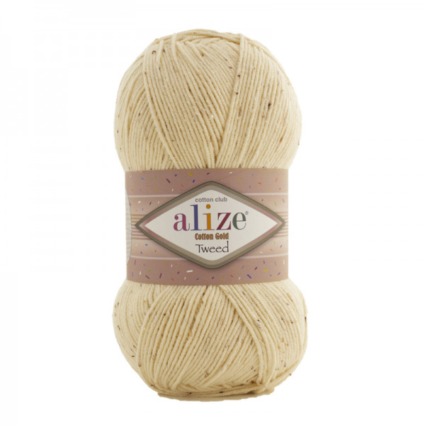 Alize Cotton Gold Tweed 01
