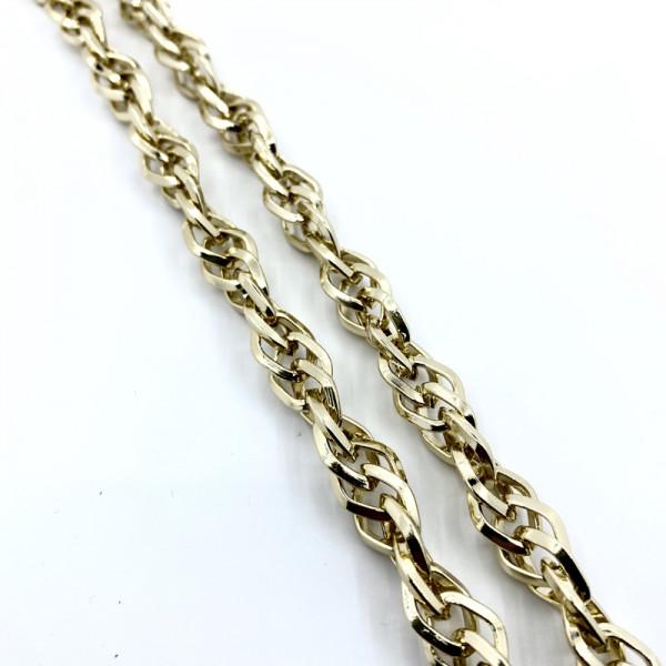 Αλυσίδα Χρυσό Λεπτή 2cm (1 μέτρο) 2